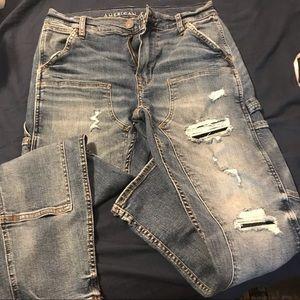 American eagle distressed carpenter jeans